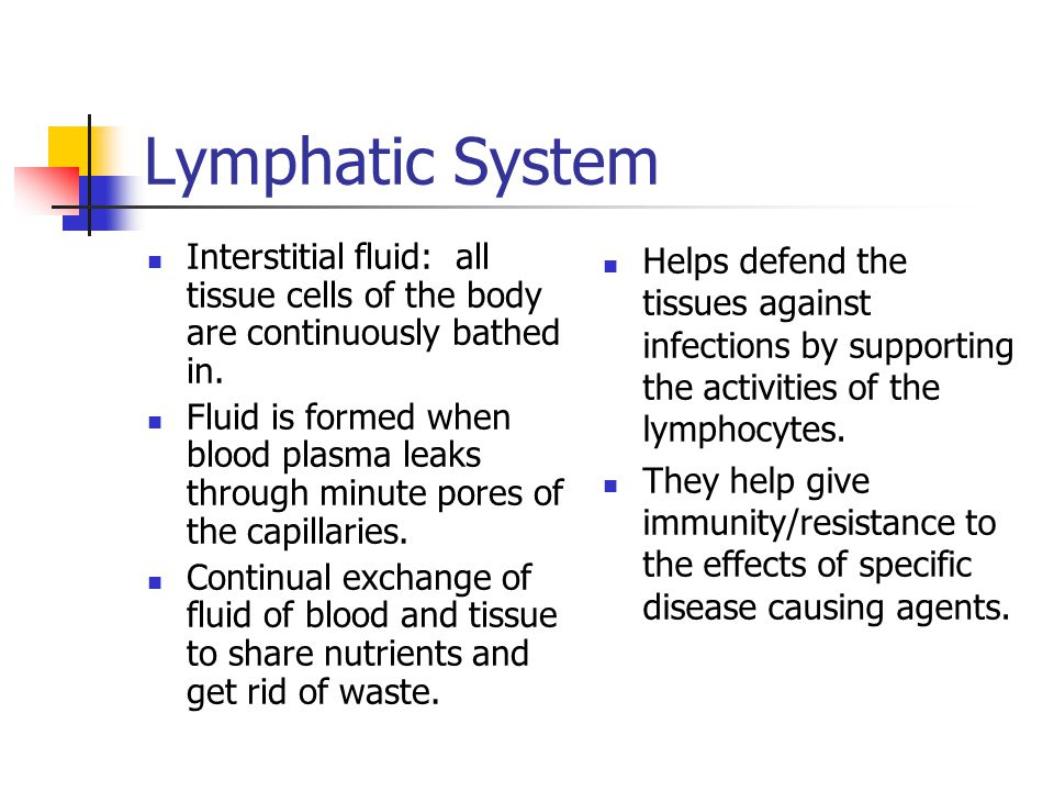 Lymphatic System Interstitial fluid: all tissue cells of the body are continuously bathed in.