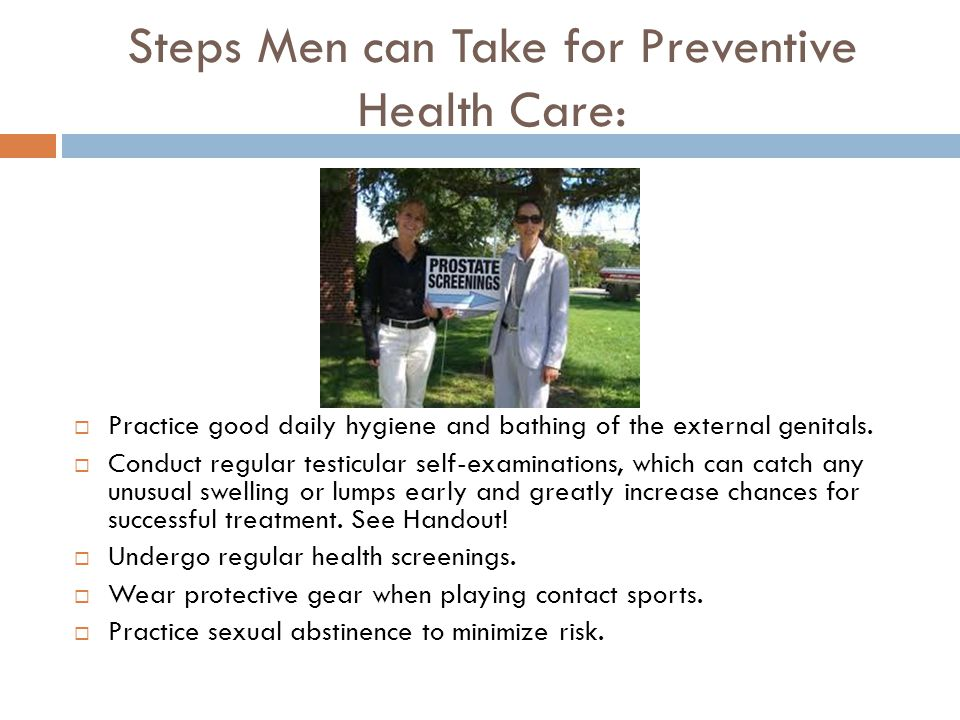 Steps Men can Take for Preventive Health Care: