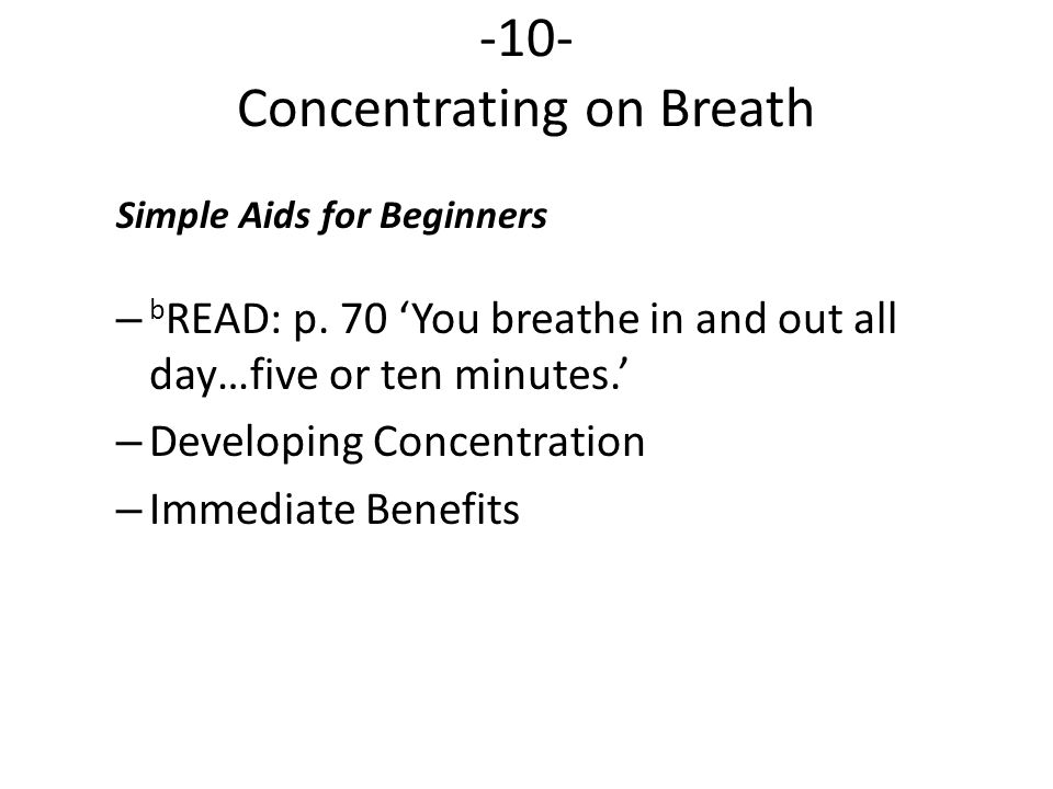 -10- Concentrating on Breath