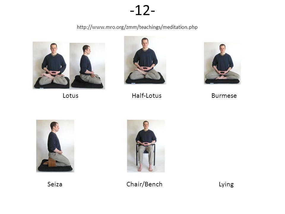 -12- Lotus Half-Lotus Burmese Seiza Chair/Bench Lying