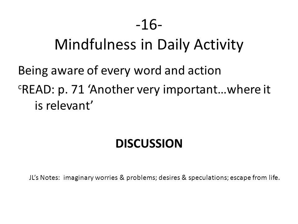 -16- Mindfulness in Daily Activity