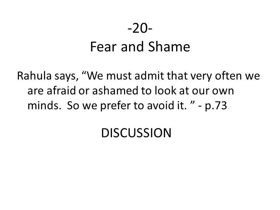 -20- Fear and Shame