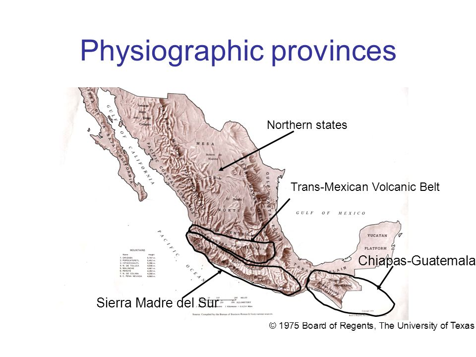 Physiographic provinces