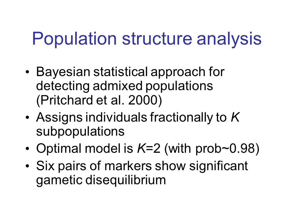 Population structure analysis