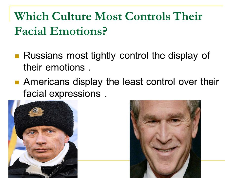 Which Culture Most Controls Their Facial Emotions