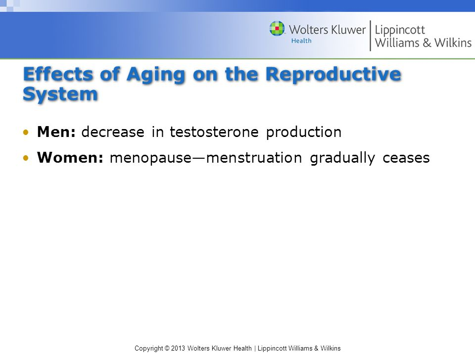 Effects of Aging on the Reproductive System