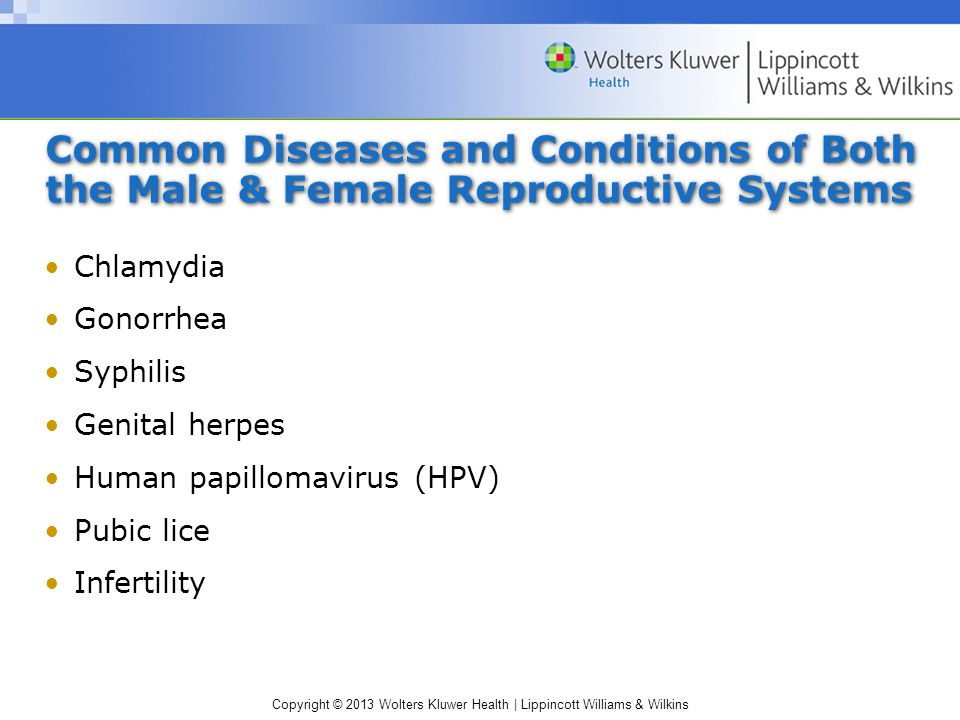 Common Diseases and Conditions of Both the Male & Female Reproductive Systems