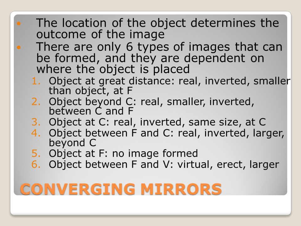 The location of the object determines the outcome of the image