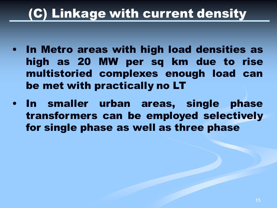 (C) Linkage with current density