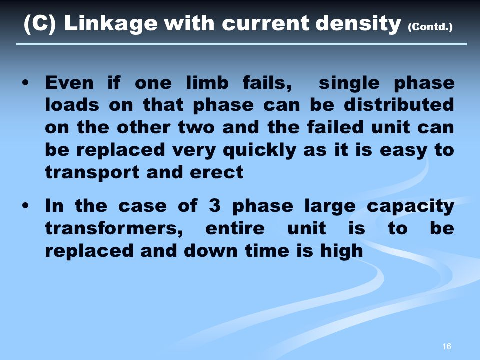 (C) Linkage with current density (Contd.)