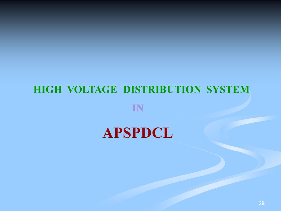 HIGH VOLTAGE DISTRIBUTION SYSTEM