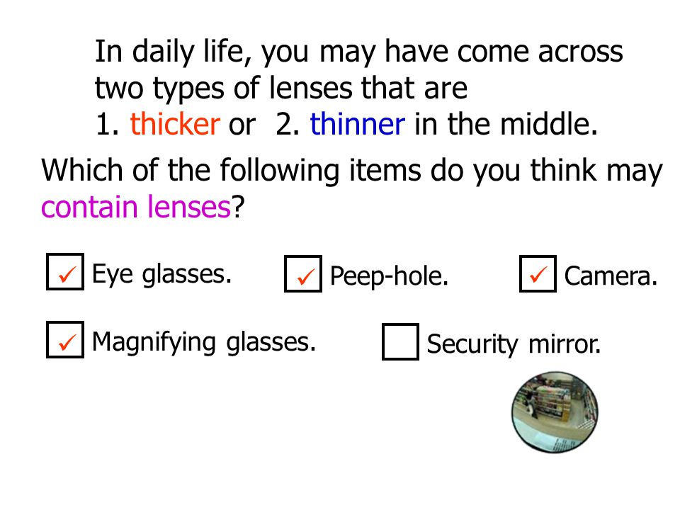 In daily life, you may have come across two types of lenses that are