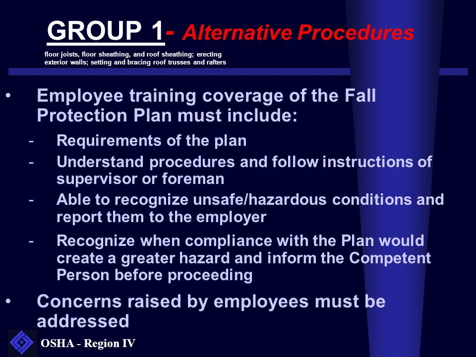 GROUP 1- Alternative Procedures