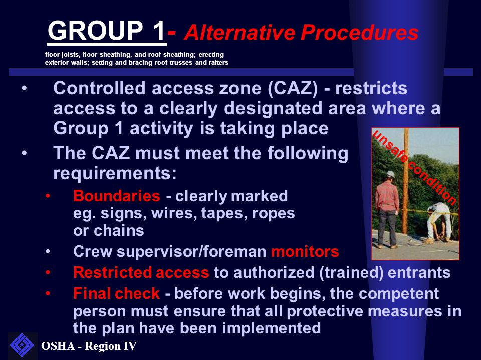GROUP 1- Alternative Procedures