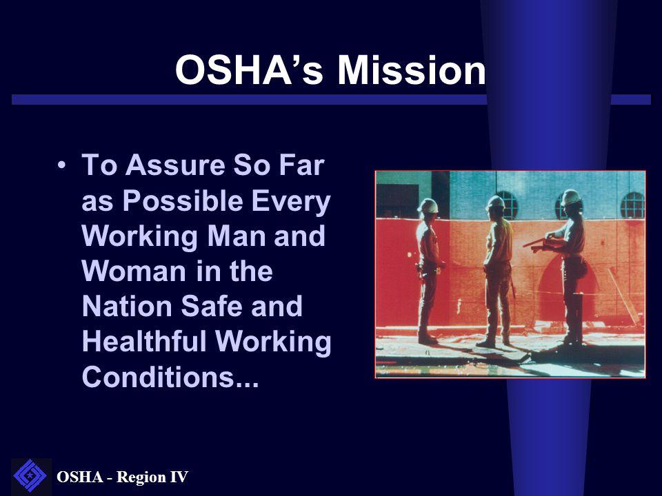 OSHA's Mission