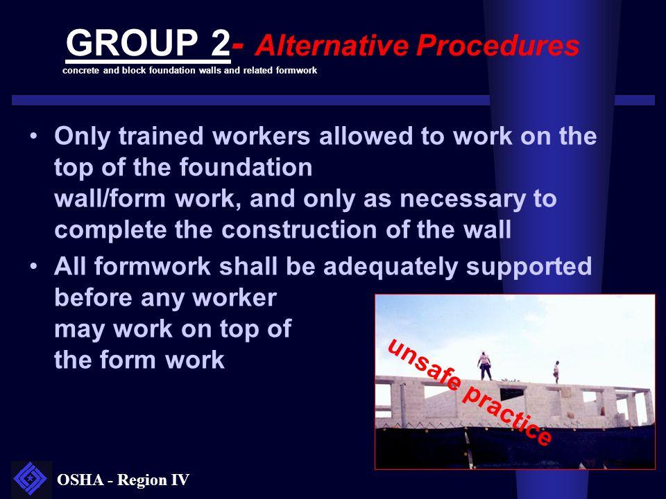 GROUP 2- Alternative Procedures