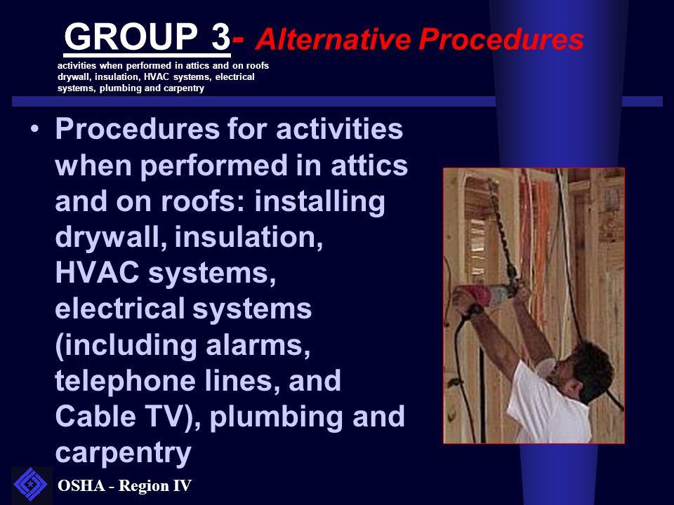 GROUP 3- Alternative Procedures