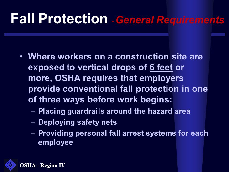 Fall Protection - General Requirements