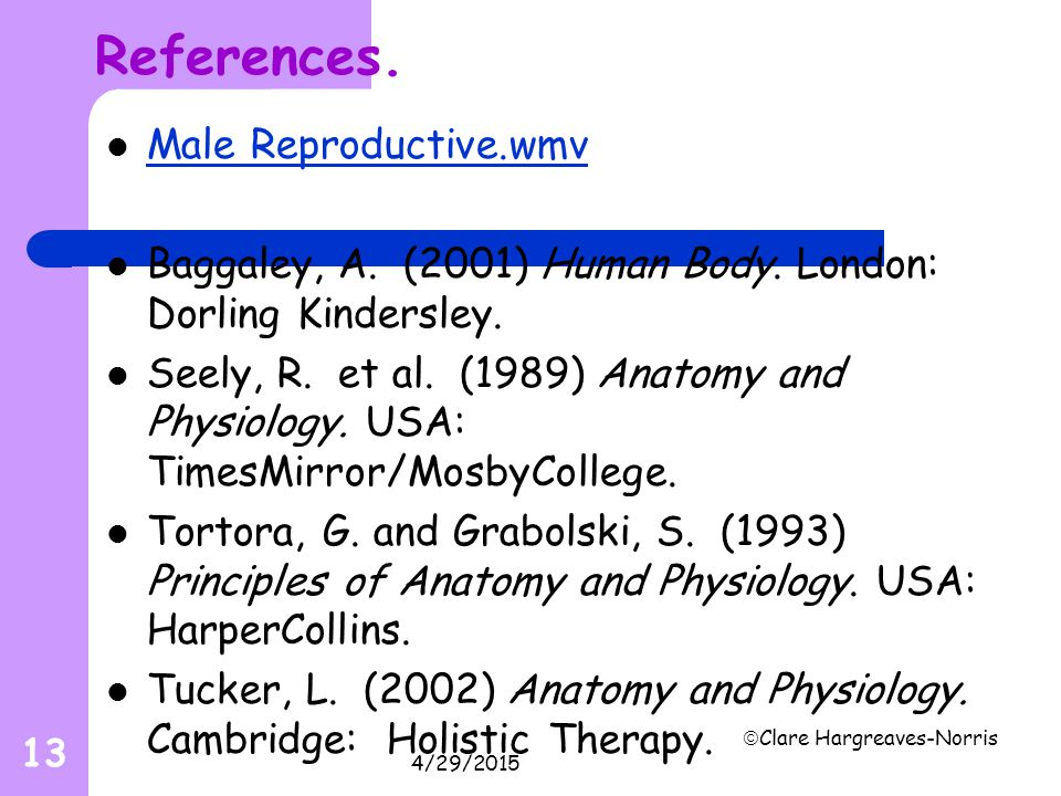 References. Male Reproductive.wmv