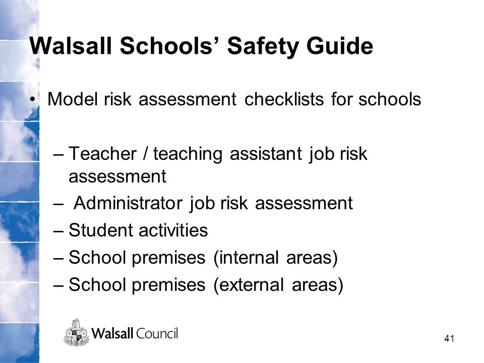 Walsall Schools' Safety Guide