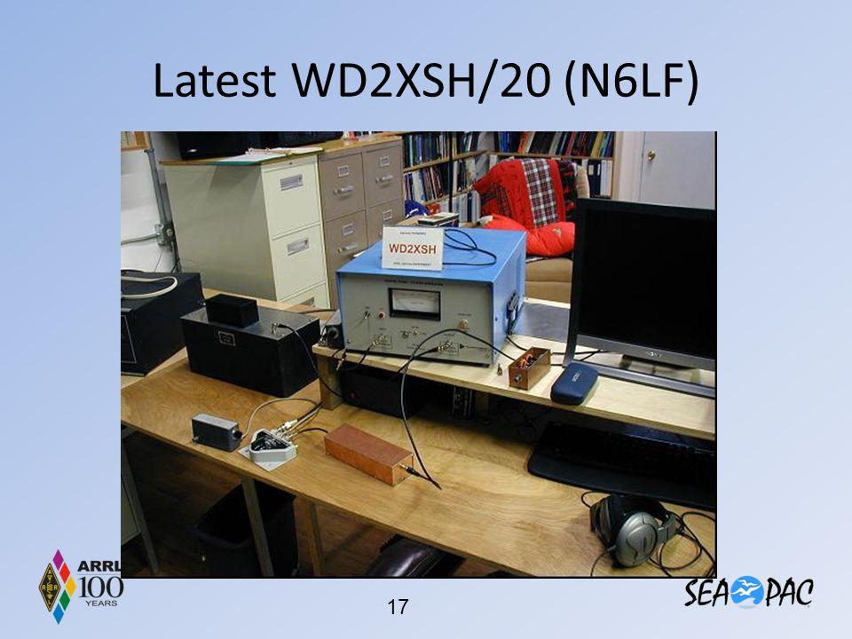 Latest WD2XSH/20 (N6LF)
