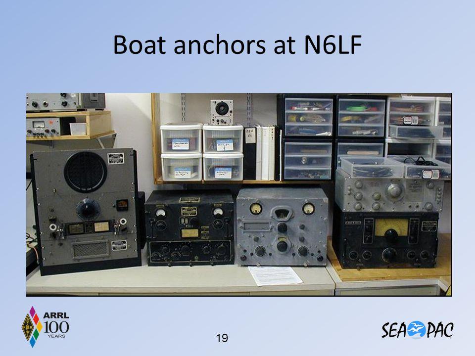 Boat anchors at N6LF