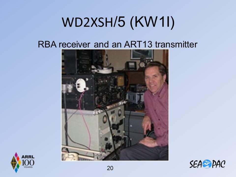 WD2XSH/5 (KW1I) RBA receiver and an ART13 transmitter