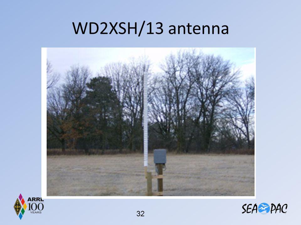 WD2XSH/13 antenna