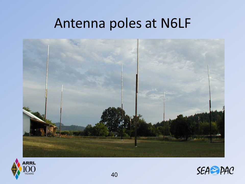 Antenna poles at N6LF