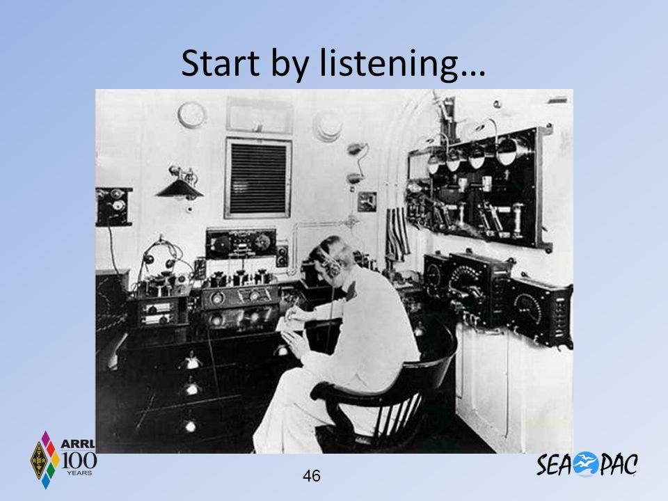 Start by listening…