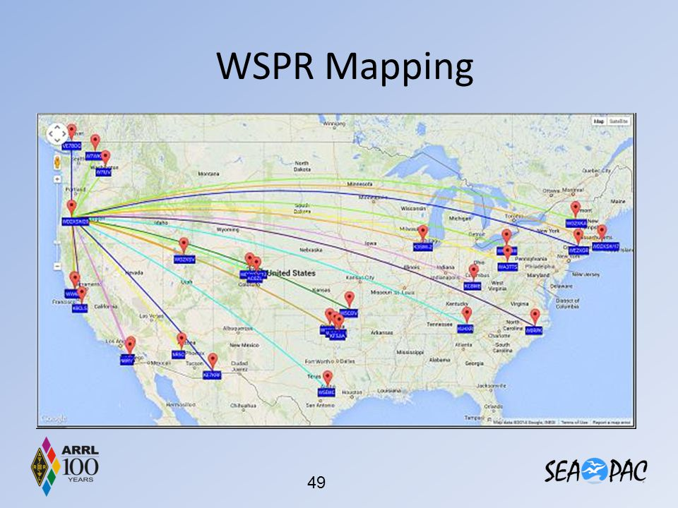 WSPR Mapping