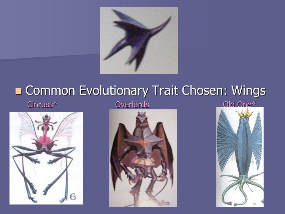 Common Evolutionary Trait Chosen: Wings