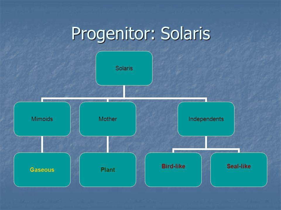 Progenitor: Solaris