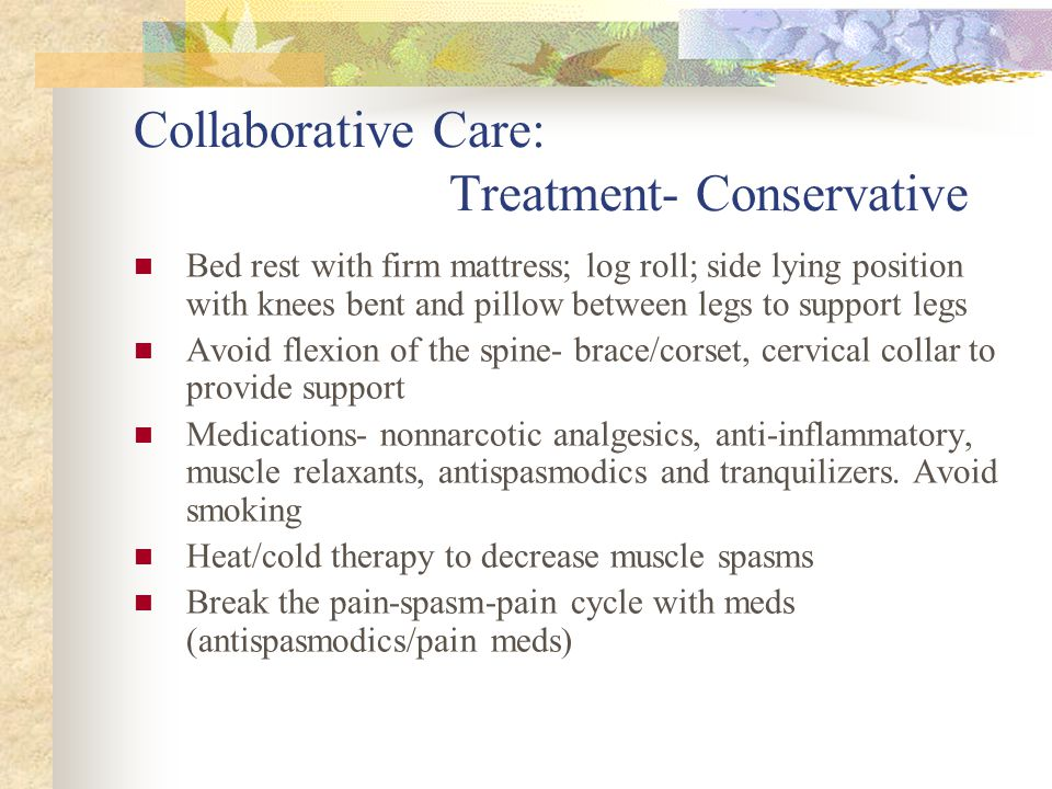 Collaborative Care: Treatment- Conservative