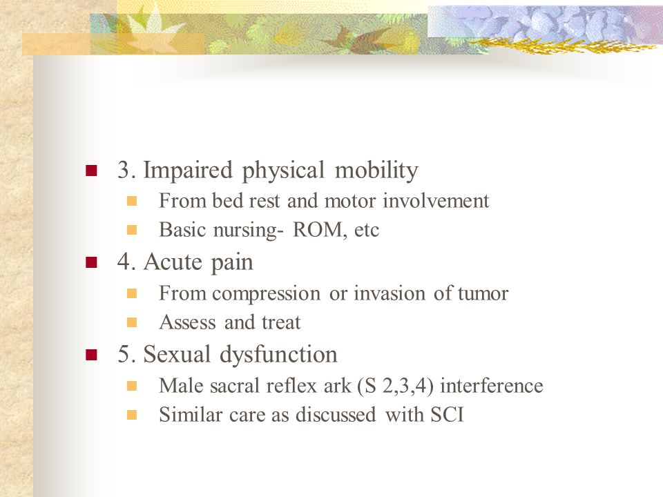 3. Impaired physical mobility