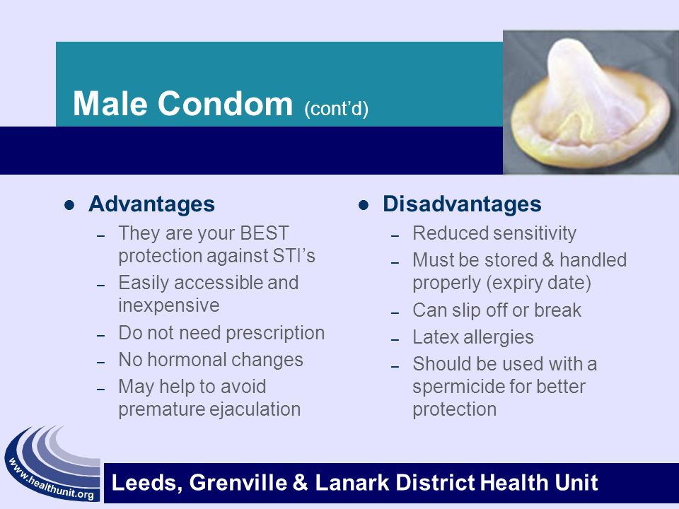 the advantages and disadvantages of using condom as a contraception The chances of getting pregnant while using a female condom are: typical use: advantages & disadvantages advantages: contraception & birth control information.