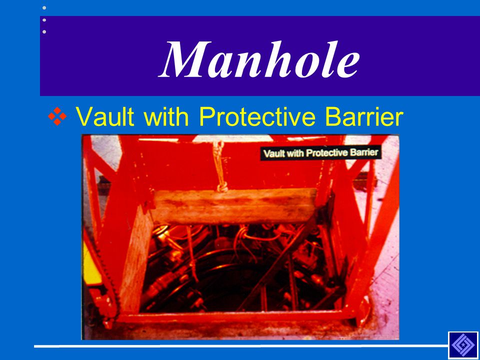 Manhole Vault with Protective Barrier