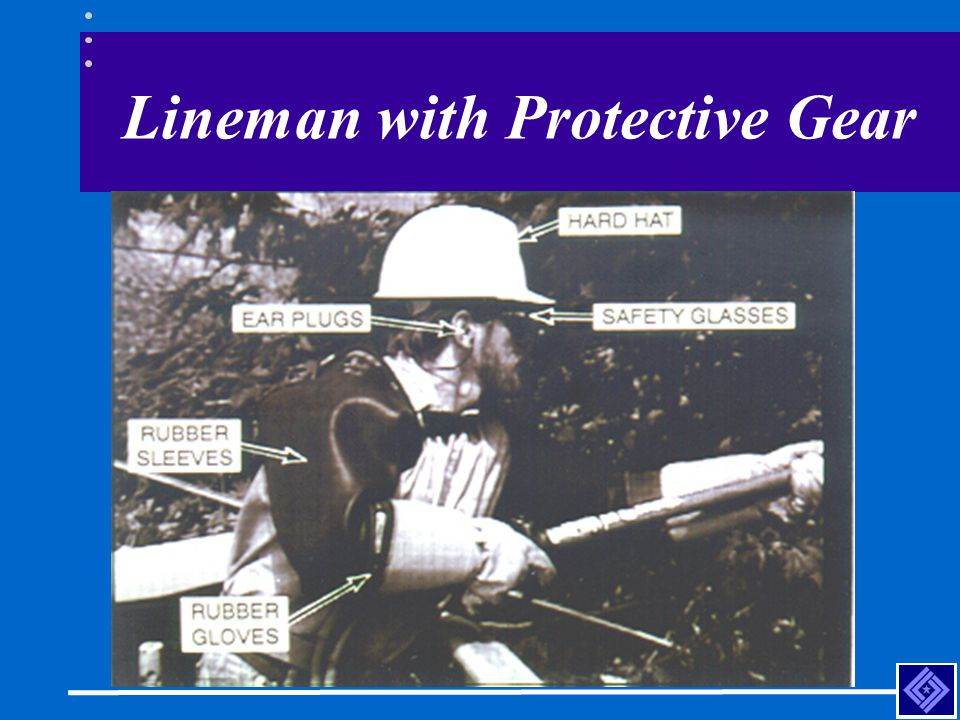 Lineman with Protective Gear