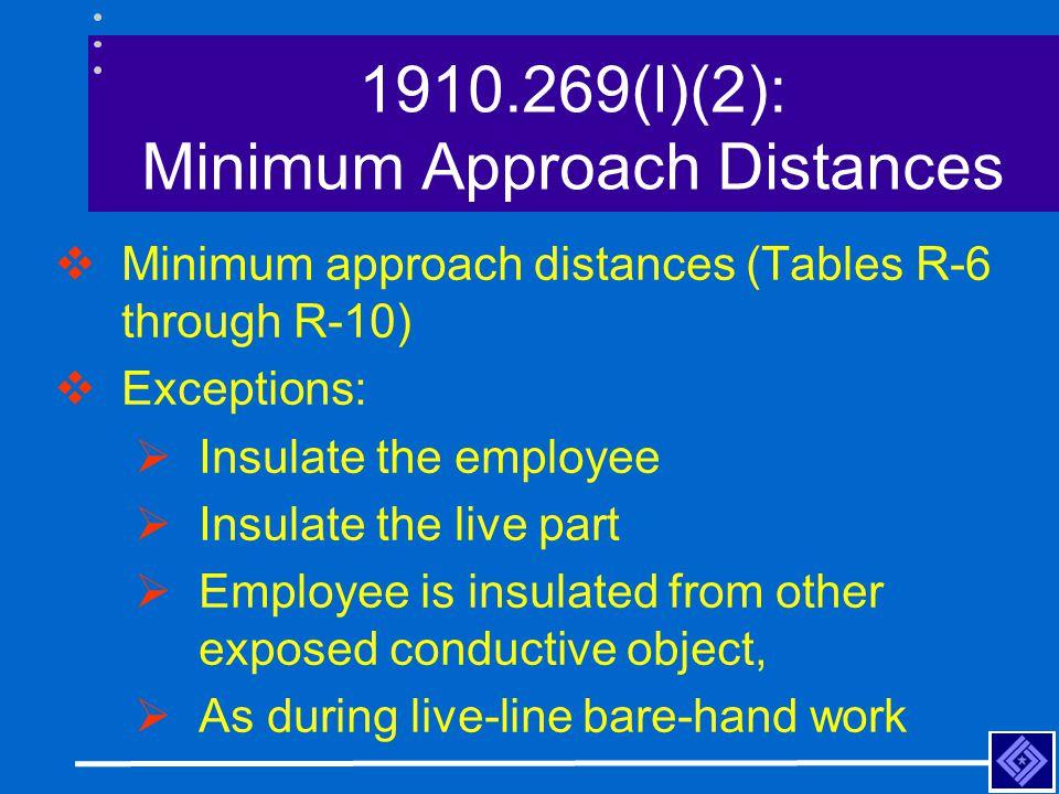 1910.269(l)(2): Minimum Approach Distances