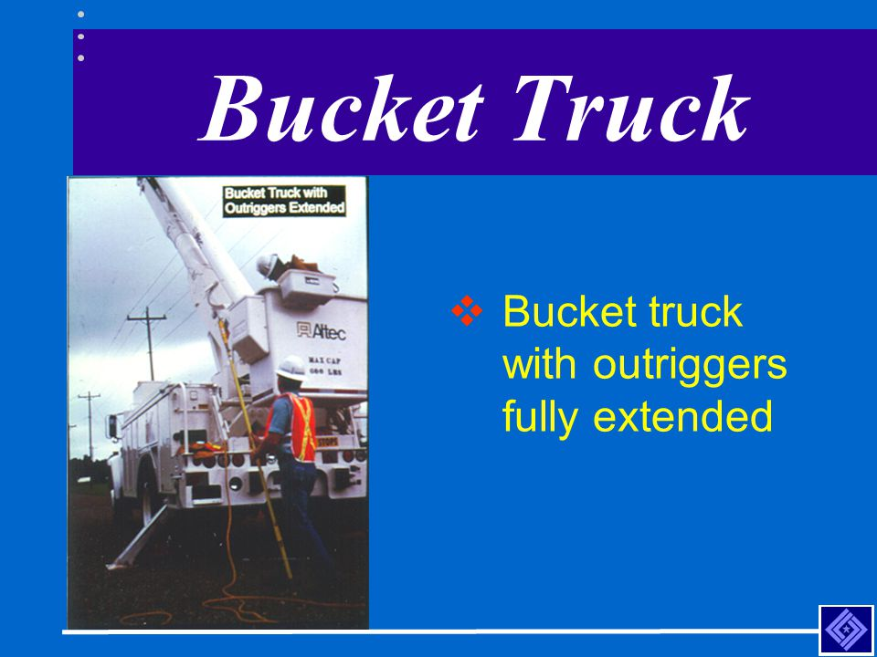 Bucket Truck Bucket truck with outriggers fully extended