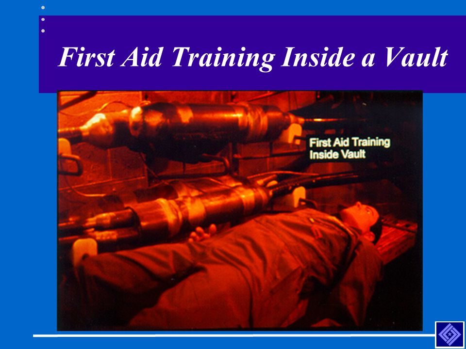 First Aid Training Inside a Vault