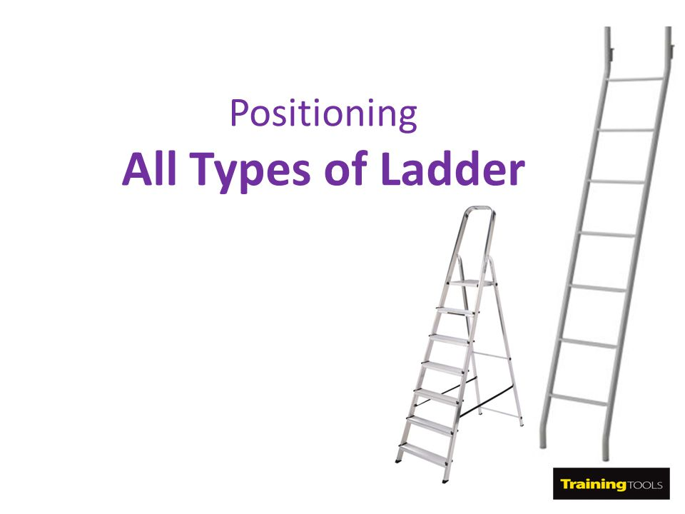 Positioning All Types of Ladder