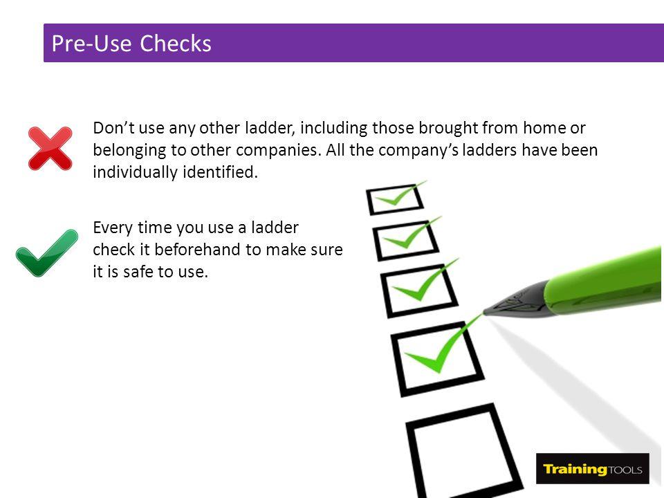 Pre-Use Checks