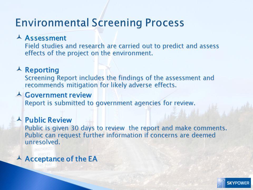 Environmental Screening Process