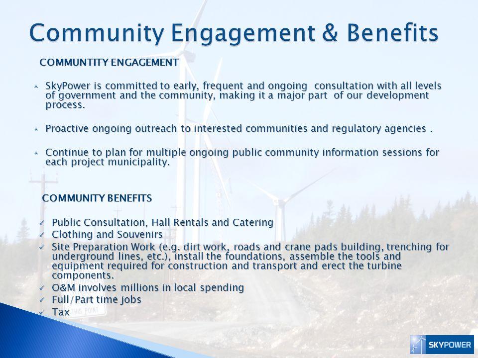 Community Engagement & Benefits