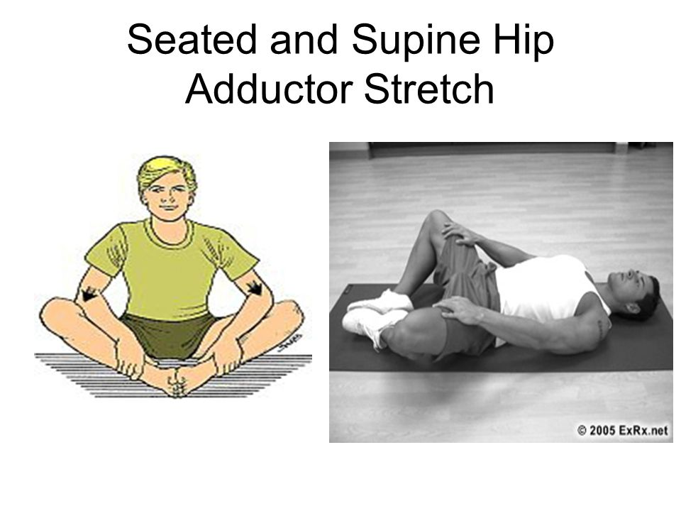 Seated and Supine Hip Adductor Stretch