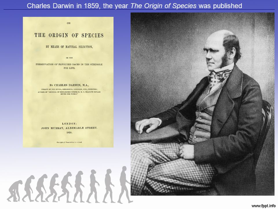 Charles Darwin in 1859, the year The Origin of Species was published