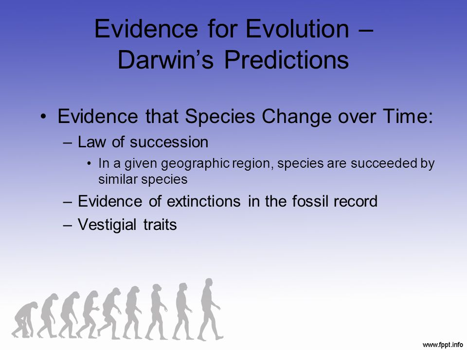 Evidence for Evolution – Darwin's Predictions
