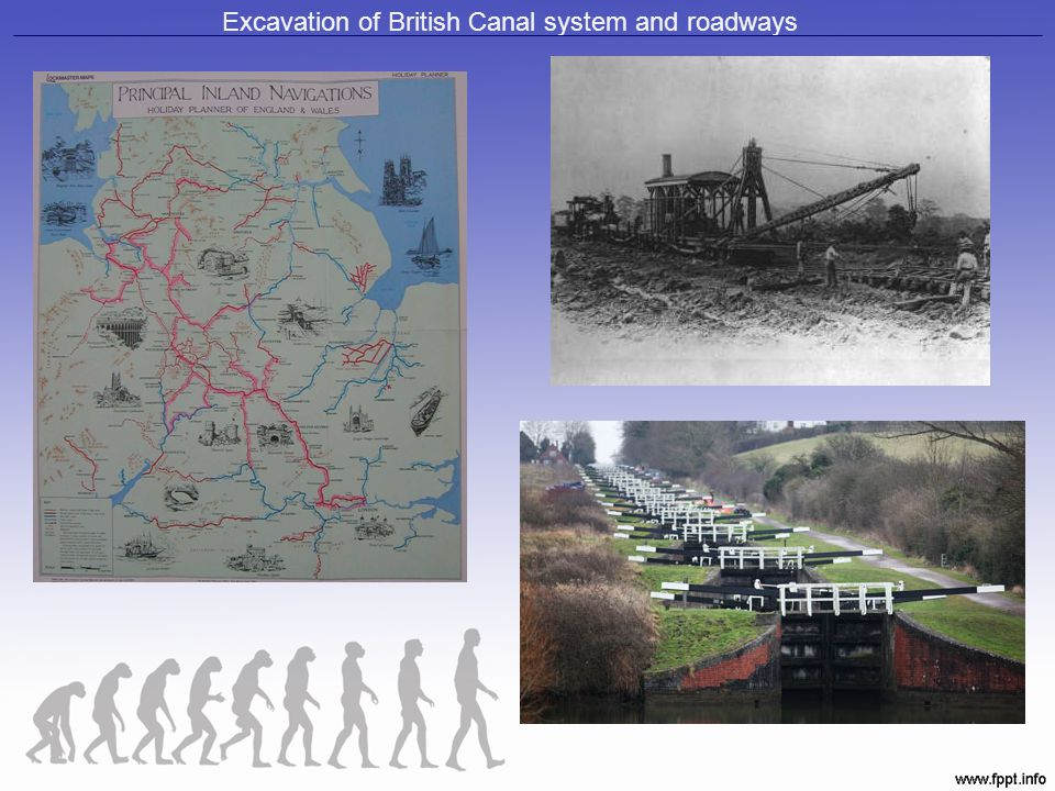 Excavation of British Canal system and roadways
