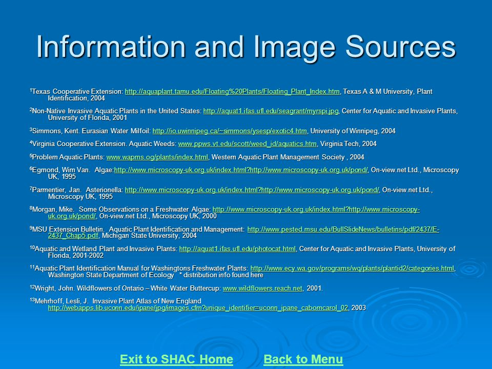Information and Image Sources